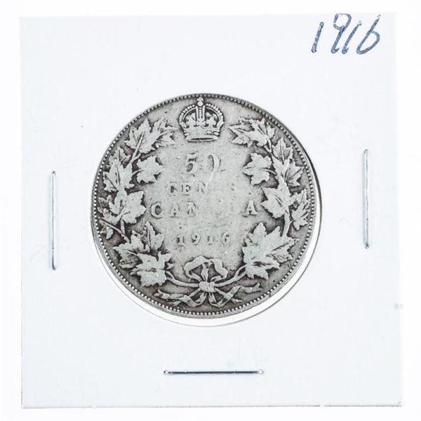 1916 CANADA Silver 50 Cents