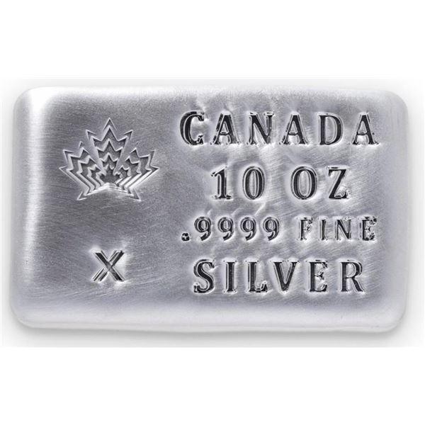 Canada Collector Bullion Brick .999 Fine Pure  Silver Hand Poured Brick 10oz ASW
