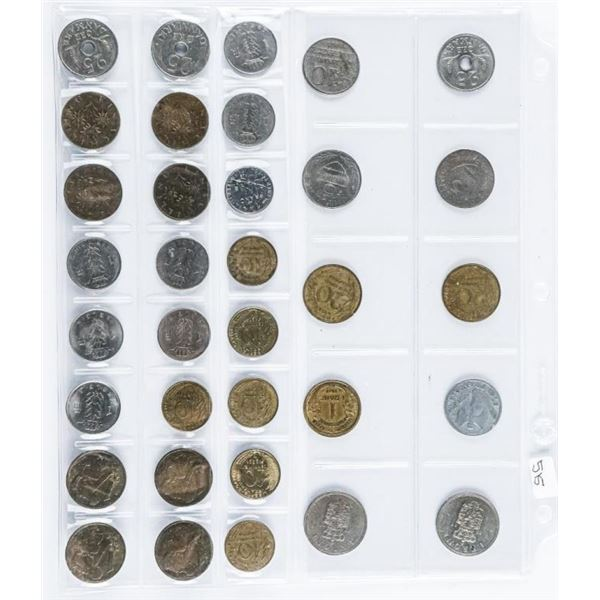 Lot (34) Foreign Coins