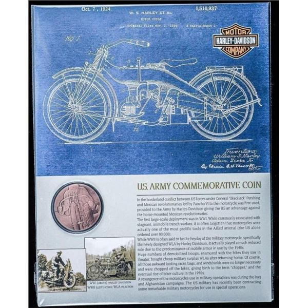 US Army Commemorative Coin - HARLEY DAVIDSON  with Art Card