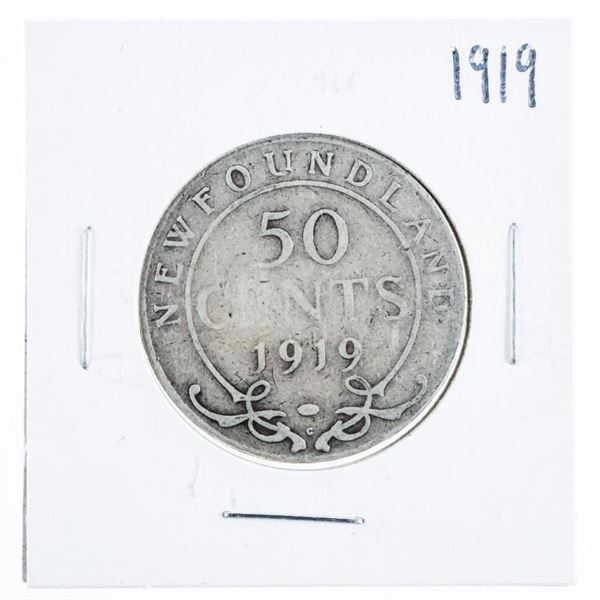 1919 NFLD Silver 50 Cents
