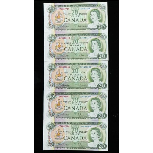 Group Bank of Canada 1969 20.00 (5) in  Sequence BC50a