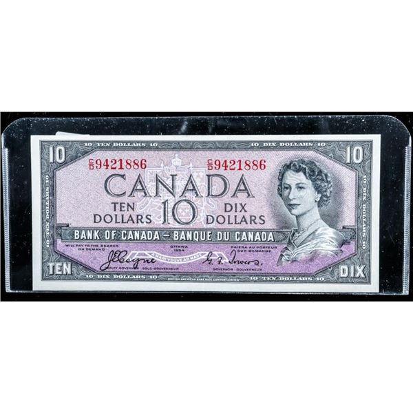 Bank of Canada 1954 10.00 Devil's Face (UNC)  (C/D) C-T