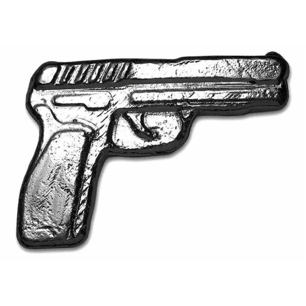 Collector Bullion 3D Poured Bar Pistol  Handgun - 2oz ASW Troy