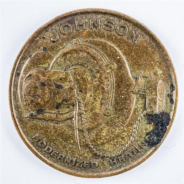 One Cent Good Luck Token 'Johnson Motor  Company' Peterborough Ontario