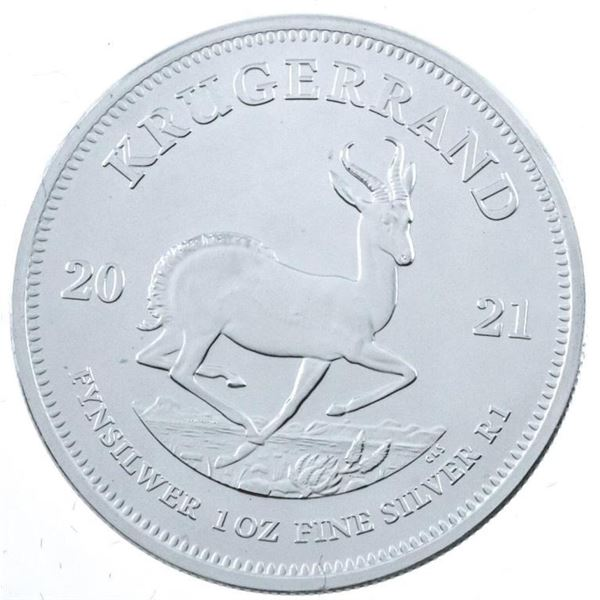 South Africa Krugerrand 2021 .999 Fine Silver  1oz ASW