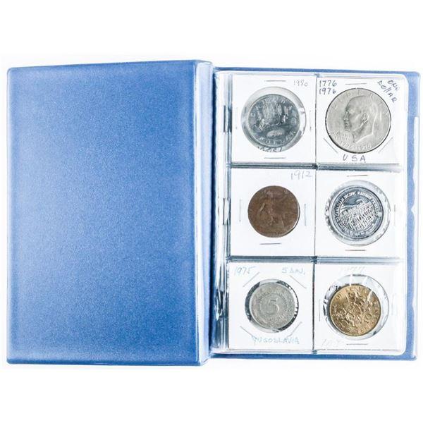 Coin Stock Book (24) Coins - World etc  Includes Silver