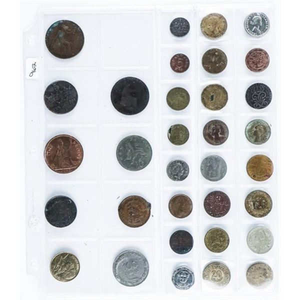 Estate - Lot of 33 World Coins. Mixed.