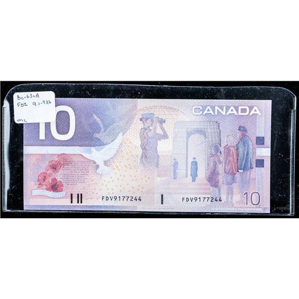 Bank of Canada 2001 10.00 UNX (FDZ) 9.1-9.86