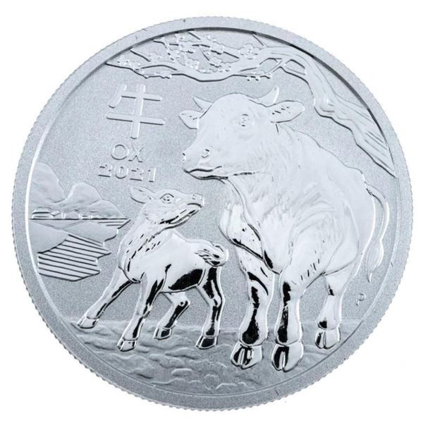 2021 Year of the Ox .999 Fine Silver Proof  Coin