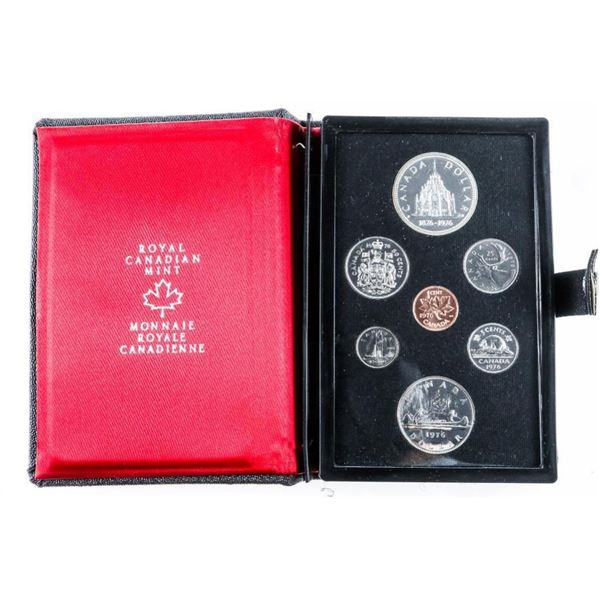 RCM 1976 Prestige/Specimen Coin Set, Leather  Case