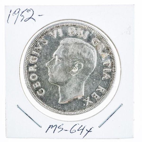1952 Canada Silver Dollar MS64X