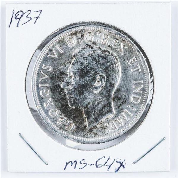 1937 Canada Silver Dollar. MS64