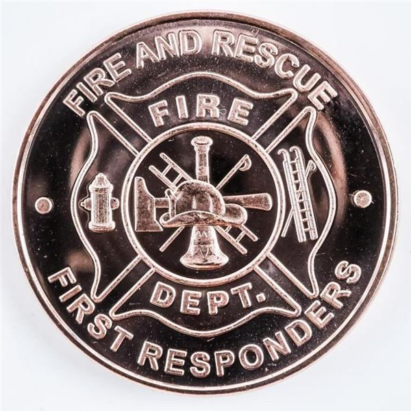 Fire and Rescue First Responders USA/Eagle,  Collector Round One A.V.D.P. Ounce