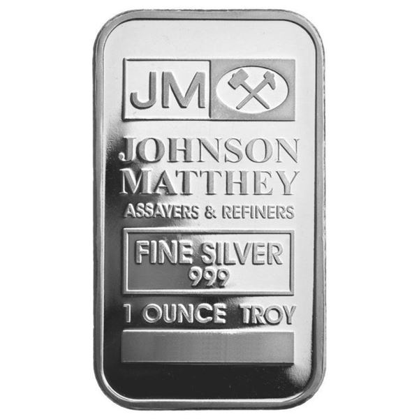 JM Collector Bullion Vintage .999 Fine Silver  bar 1.00oz ASW No Longer Produced