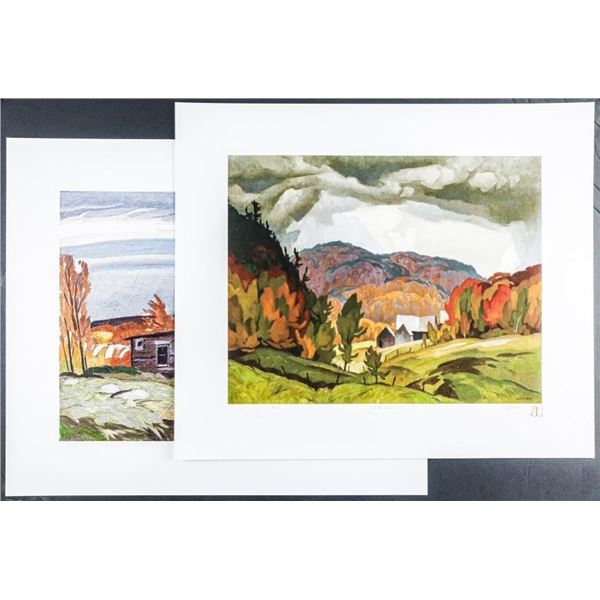 A.J. Casson (1898-1992) 'The White Series' 2  Images 'Back Country' LE/250 Worldwide 18x21  Unframed