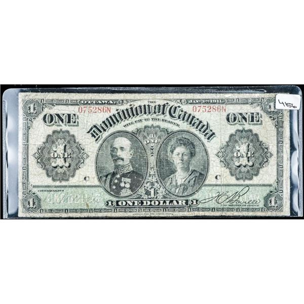 Dominion of CANADA 1911 One Dollar Blackline  Series L-N (550)
