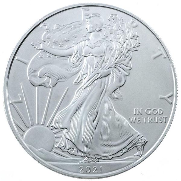 2021 USA Eagle/Liberty One Dollar Coin, .999  Fine SIlver 1oz ASW
