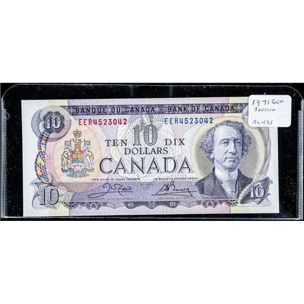 Bank of CANADA 1971 10.00 (EER) BC49d GEM UNC
