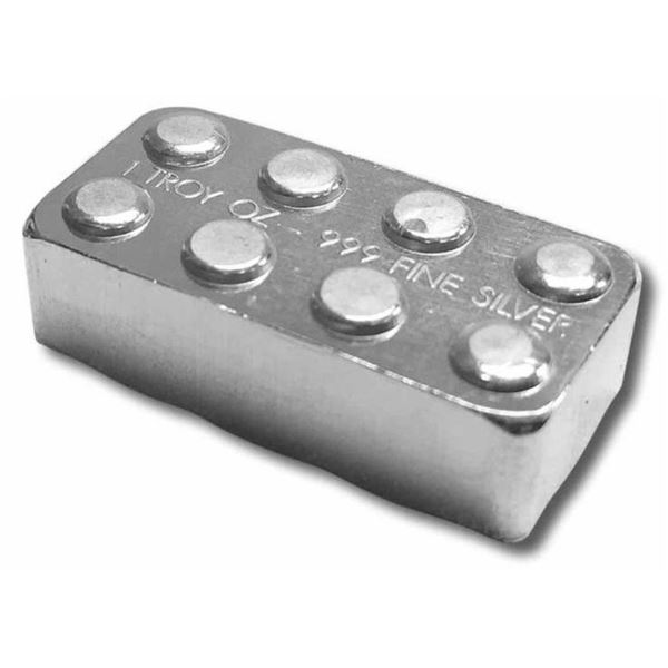 Building Block, Similar to Lego .999 Fine  Silver Block 1oz ASW