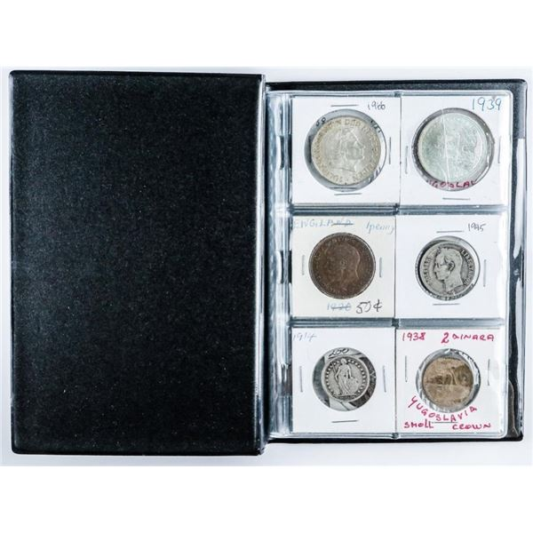 Coin Stock Book 24 World Coins includes  Silver