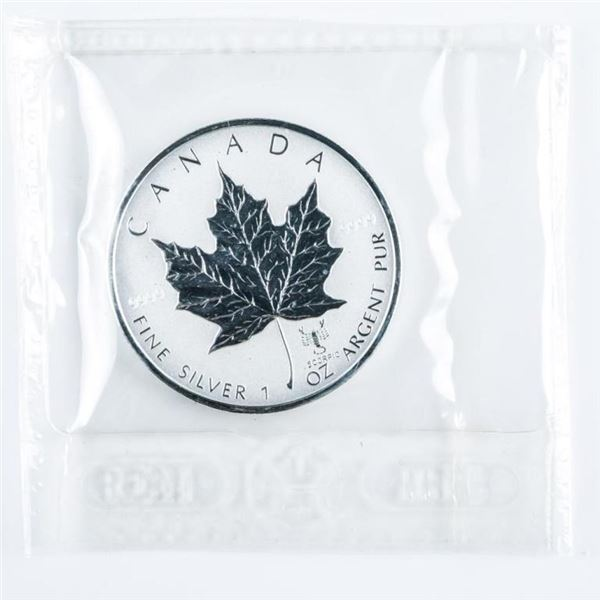 RCM Maple Leaf $5.00 .999 Fine Silver 1oz ASW  with 2004 Scorpio Privy Mark LE/C.O.A.