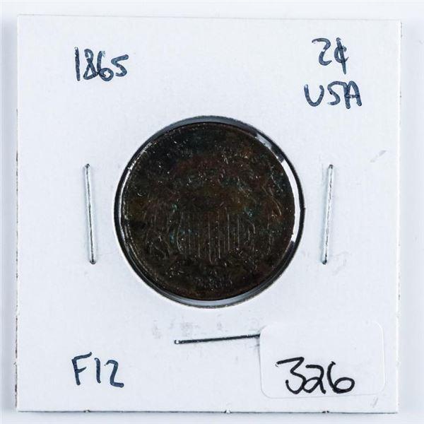 1865 USA 2 Cents