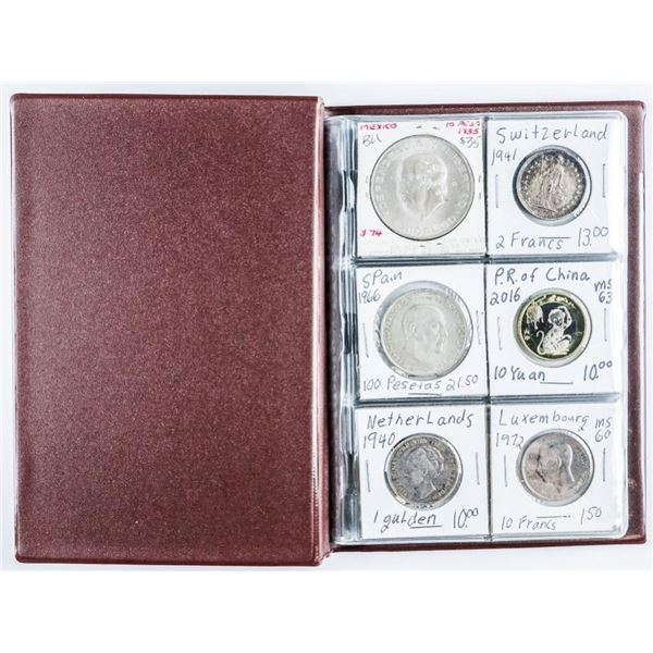 Coin stock Book (24) World Coins Most Coins  are Silver