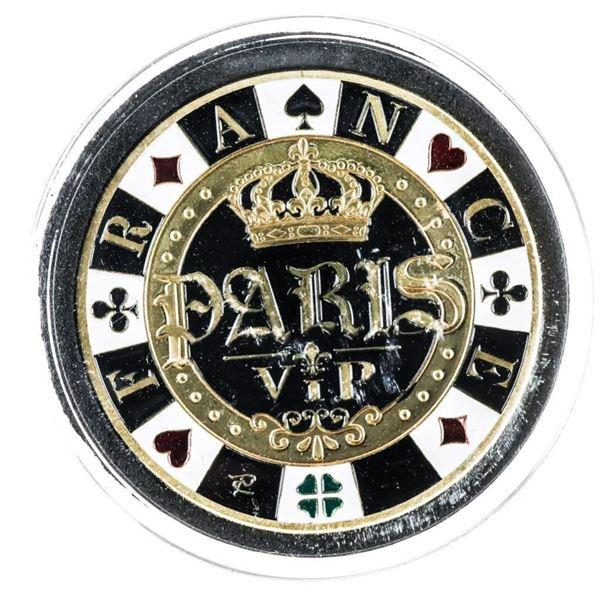 Paris VIP 24kt Gold Foil Medallion LE