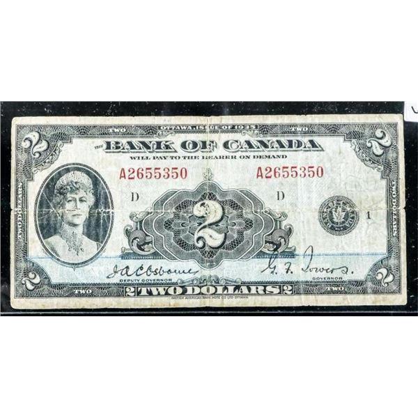 Bank of Canada 1935 2.00 English  Osborne-Towers (547)