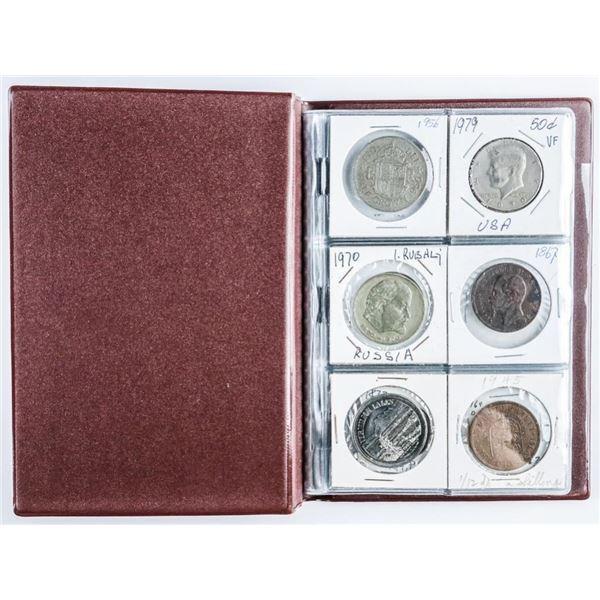 Coin Stock Book (24) World Coins, Canada USA,  Silver etc