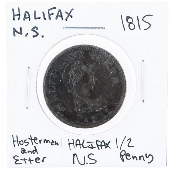 Halifax Nova Scotia 1815 - Hosterman and  Etler Half Penny. (653)