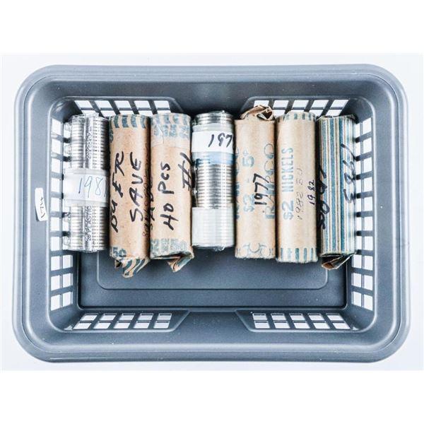Lot (7) Rolls Canada Nickels -  1977-1978-1979-1980-1981-1982-1983