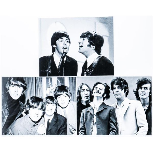 Group of (3) Vintage Black and White Photos  'Beatles' 8x10