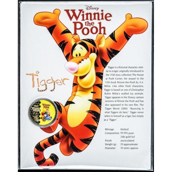 Winnie the Pooh - Collector Medallion on 8x10  Giclee Display