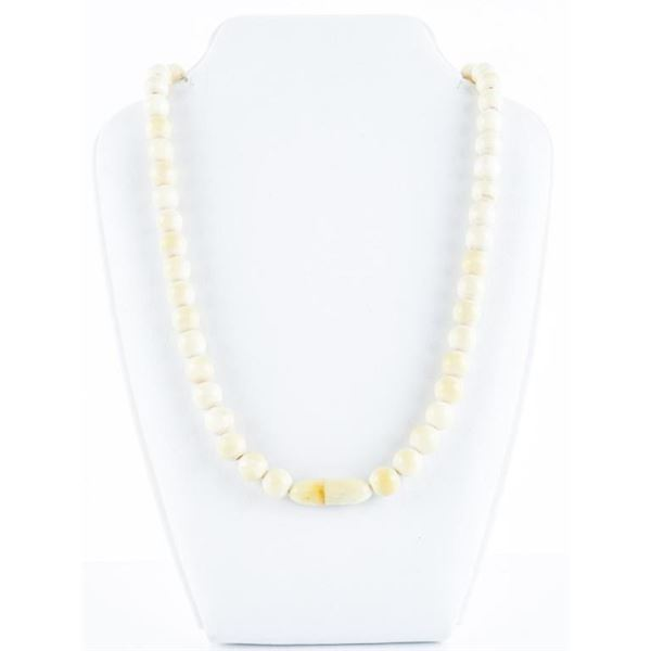 Vintage - Estate 'Ivory' Bead Choker  Necklaces. Screw Clasp