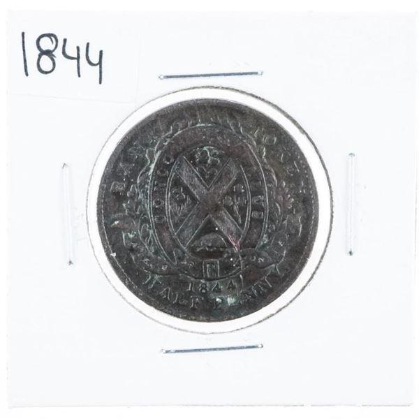 Canada, 1844 Half Penny Bank of Montreal.  (609).