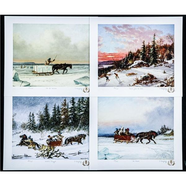 C. Krieghoff art Folio, 4 - 8x10 Giclee  Images. All Matched #1/60 Worldwide with  C.O.A.