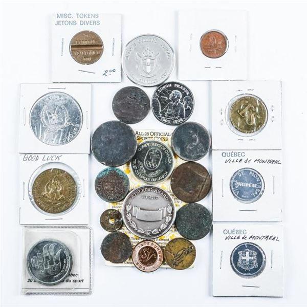 Estate Bag lot - Tokens, Medals etc