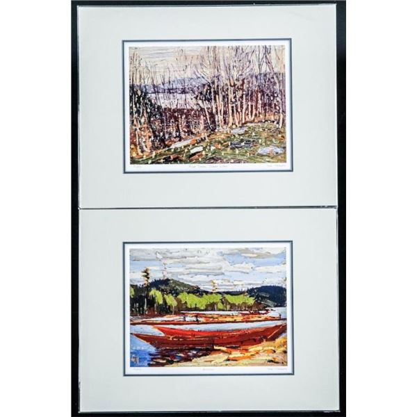 Pair Tom Thomson (1877-1917) LE Litho's 11x14  matted