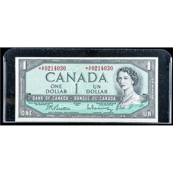 Bank of CANADA 1954 1.00 *Replacement (AF)  B/R (VF)