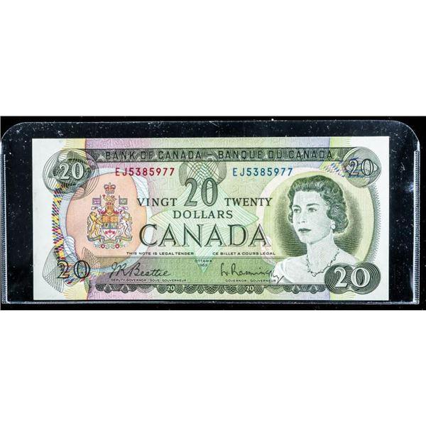 Bank of Canada 1969 20.00 UNC (EJ)