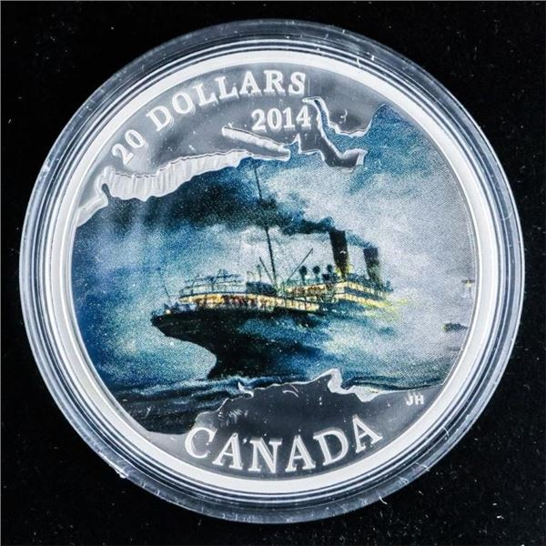 RCM Lost Ships in CANADIAN Waters .999 Fine  Silver $20.00 LE/C.O.A.