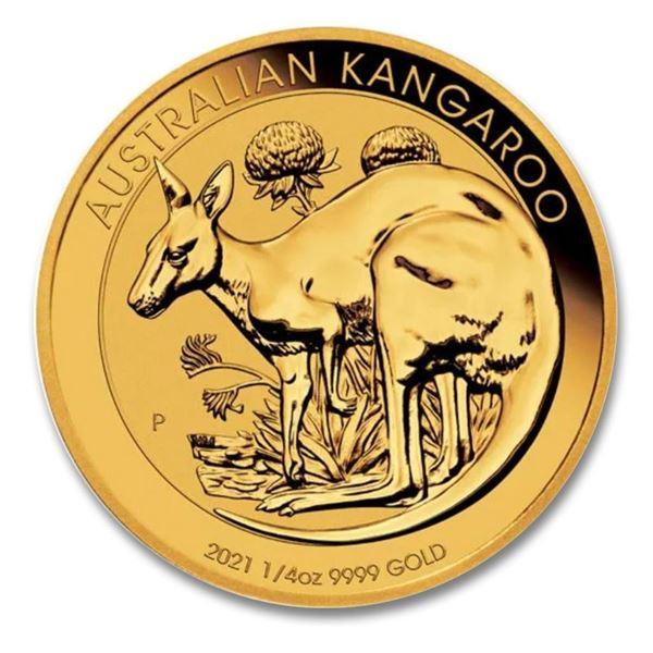 Australia's Kangaroo .999 Fine Gold 25.00 Round. Very Collectible.
