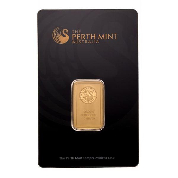 Australia .999 Fine Gold 10 Gram Bar. Original Package, Serialized.