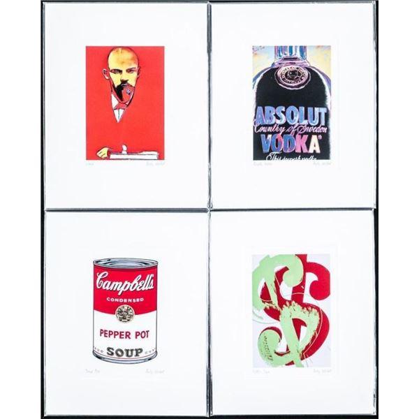 "Group of (4) Andy Warhol Giclee's 4x6"""
