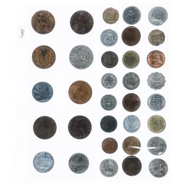 Lot (34) World Coins