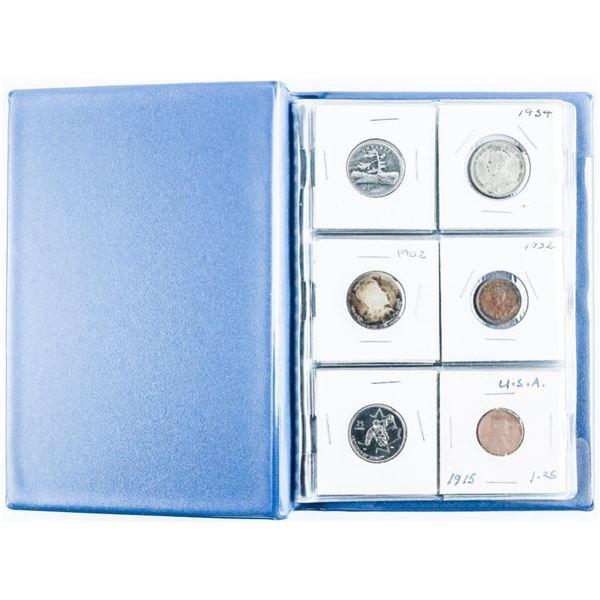 Collector Starter Coin Book, 12 Coins  Includes Silver