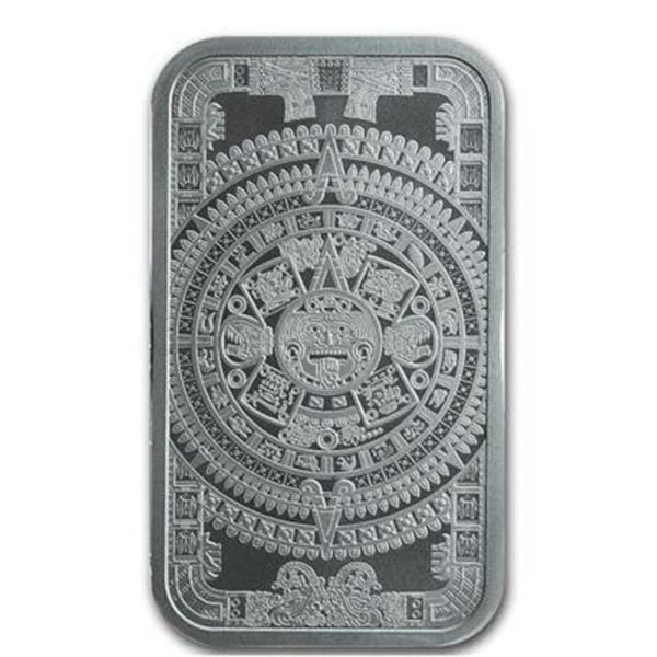 Collector Bullion Bar AZTEC Calendar .999  Fine Silver 1oz