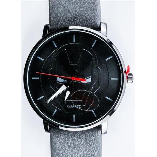Duke Nicle - Quartz Watch Black Dial with  Marvel Head, WATERPROOF